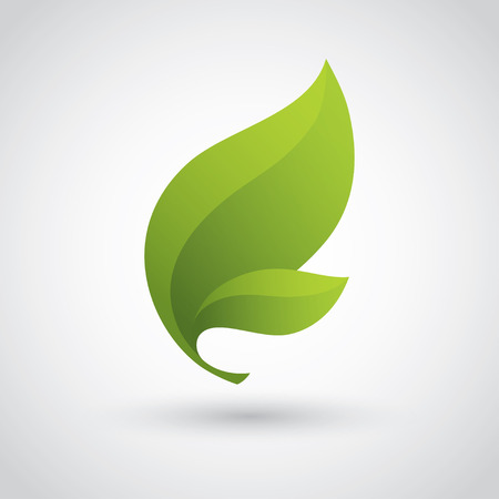 Green Icon Feuille Banque d'images - 39435039