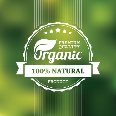 organic concept: Organic product banner