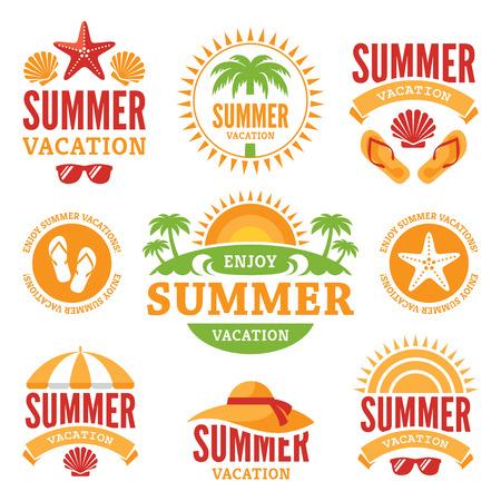 summer holidays: Summer Holidays Labels