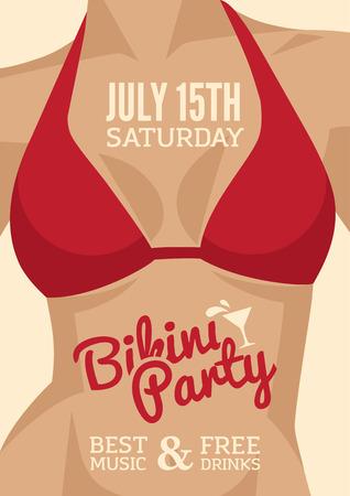 red breast: Bikini Party