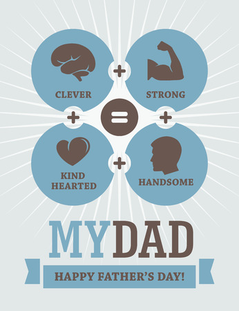 kind hearted: Fathers Day creative design Illustration