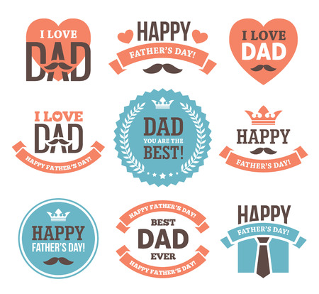 Fathers Day etiketten en borden