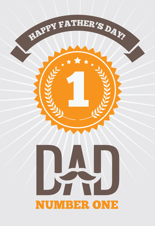 Dad number one 1 向量圖像