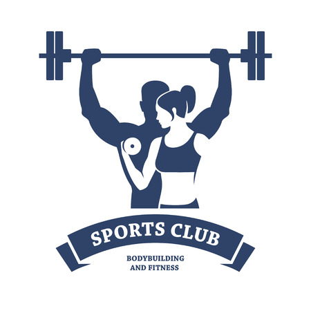 barbell: Fitness and Bodybuilding Club Illustration