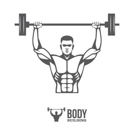 weightlifter: Bodybuilder lifting barbell