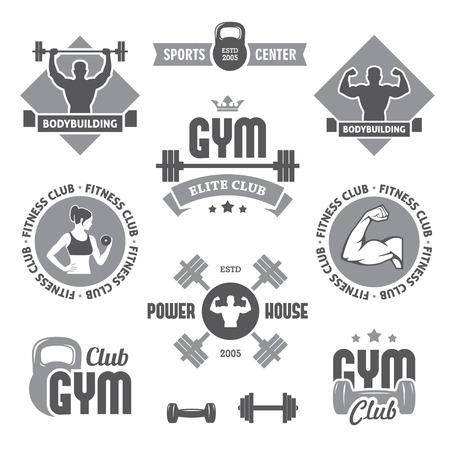 Monochrome gym labels