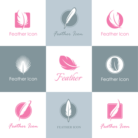 Set of feather icons, signs and symbols for concepts templates