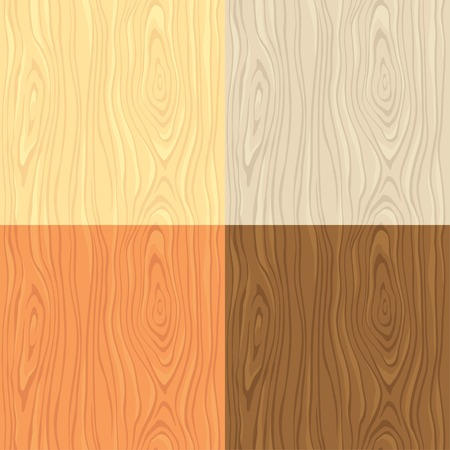 differ: Seamless wooden texture in four differ color variations