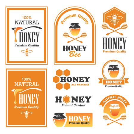 Set d'étiquettes de miel et des signes dans le vecteur Banque d'images - 57900714