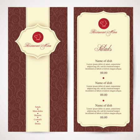 menu design: Restaurant menu design in vector