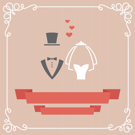 Wedding invitation card in vector Illustration