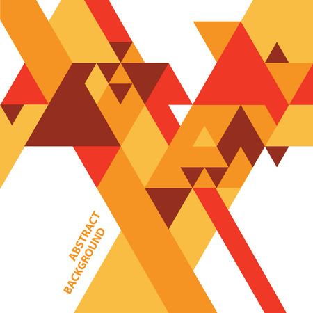 warm: Abstract geometric vector background with triangles in warm colors Illustration