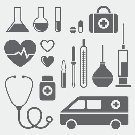 medical symbols: Set of medical symbols Illustration