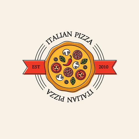 Bright italian pizza logo.