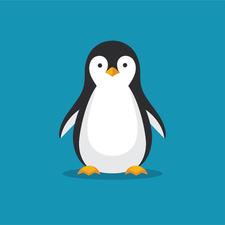 フラット スタイルのかわいいペンギン アイコン。  イラスト・ベクター素材
