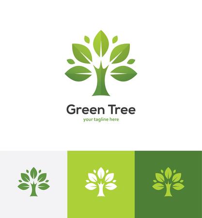 Abstract green tree logo. 向量圖像