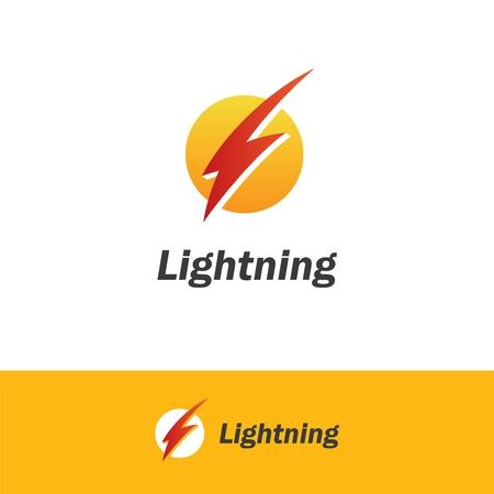 Lightning bolt logo. 向量圖像