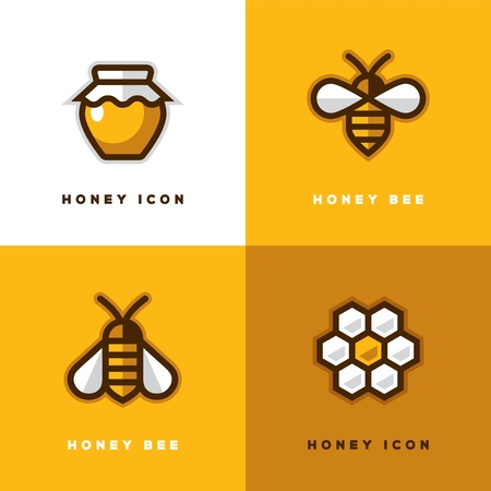 Honey and bees icon