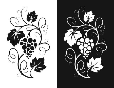 Grapes decorative pattern.