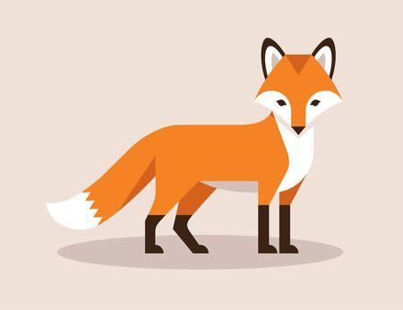 Fox flat illustration.