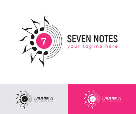 Music  with seven musical notes.