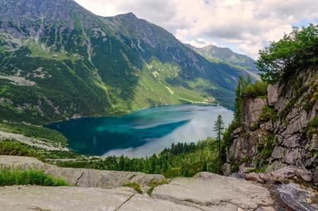 Lake in the Polish Tatra mountains Stock Photo