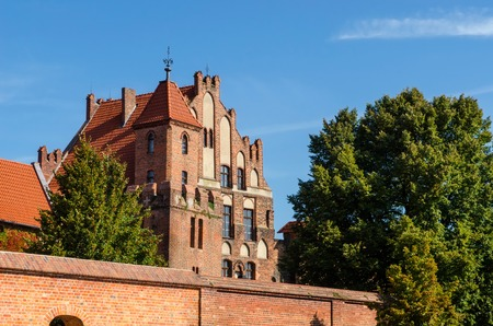 brotherhood: Manor House in Torun, Poland. Gothic building used as a summer residence of the Brotherhood of St. George, listed on UNESCO site.