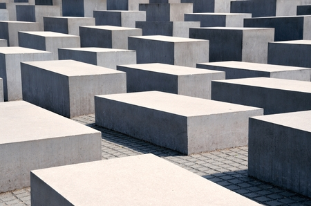 holocaust: BERLIN, GERMANY - APRIL 30, 2014: Memorial to the Murdered Jews of Europe (also known as Holocaust Mahnmal) on April 30, 2014 in Berlin, Germany