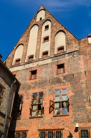 copernicus: The Copernicus Museum in Torun, Poland, view from courtyard. Gothic house where Nicolaus Copernicus was born, nowadays museum of Copernicus - the greatest Polish astronomer. One of the medieval monuments in Old Town listed by UNESCO organisation.