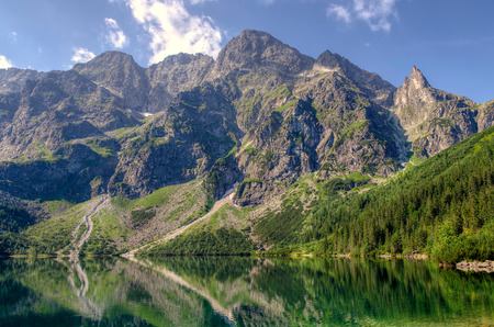 Beautiful Polish Lake Morskie Oko, High Tatra Mountains, Poland.