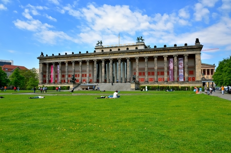 neoclassic: BERLIN, GERMANY - APRIL 30, 2014: Altes Museum (Old Museum) located on Museum Island. Neoclassic building designed by architect Schinkel is listed on UNESCO World Heritage Site.