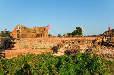 teutonic: Castello teutonico a Torun in Polonia elencati dall'organizzazione dall'UNESCO. Le rovine del castello gotico del Teutonico che ora ospita un museo. Editoriali