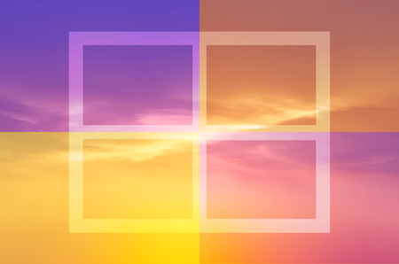 effect sunset: Color effect sunset sky background. Stock Photo