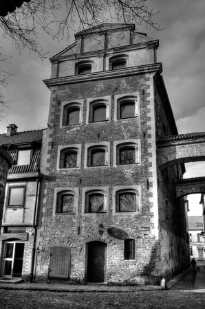 tenement: Gothic tenement house in Torun Poland. Old town house was used as a granary Torun old town listed