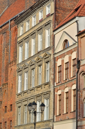 tenement: Old Town of Torun. Gothic tenement houses in old town Torun listed by the UNESCO organization.