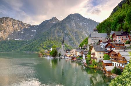 Hallstatt village in Austria Alps.