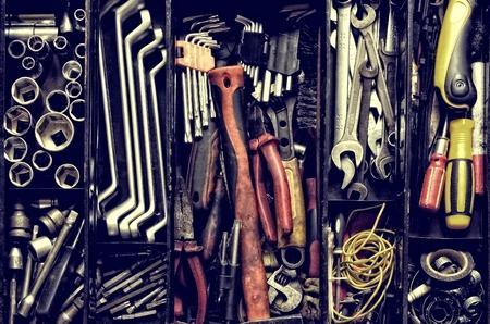 mecanica industrial: Caja de instrumento. Foto de archivo