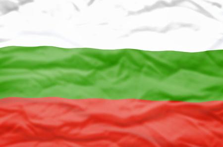 bulgaria: Bulgaria flag. Wavy flag of Bulgaria fills the frame.