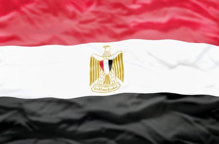 bandera egipto: bandera de Egipto. Bandera ondulada de Egipto llena el cuadro.