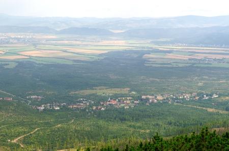 stary: Birds eye view. View of the Stary Smokovec City, Slovakia. Stock Photo