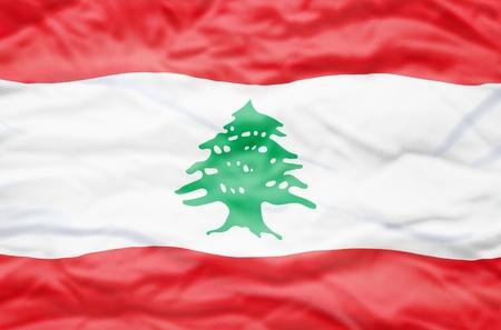 lebanon: Lebanon flag. Wavy flag of Lebanon fills the frame.