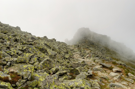 tatry: Cloudy mountain landscape. View in High Tatra Mountains, Slovakia.