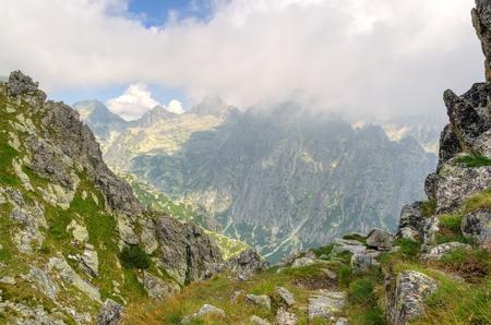 slovak: Summer mountain landscape. Picturesque view in Slovak Tatra Mountains in summer season. Stock Photo