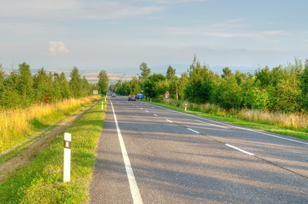 Road to city. Road to Poprad City in Slovakia.