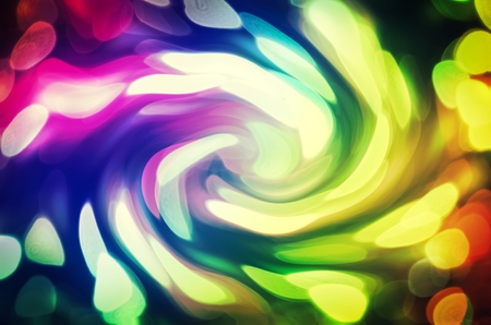 swirling: Colorful abstract background. Blurred, swirling and glowing lights. Stock Photo