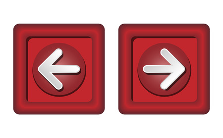 Next and previous buttons on the website. Red buttons with white arrows.