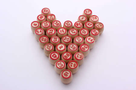 heart bingo Stock Photo