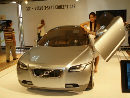 the latest models: KUALA LUMPUR MALAYSIA - MAY 31 Volvo Concept Car displayed at Motorshow on May 31 2009