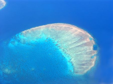 grit: Australias Great Barrier Reef from the air 1 Stock Photo