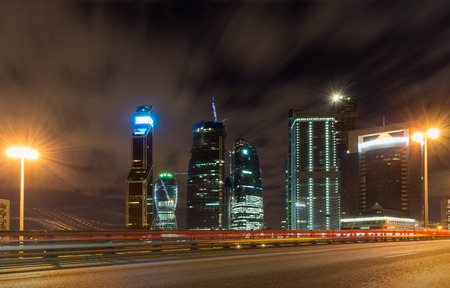 Moscow-city at night photo